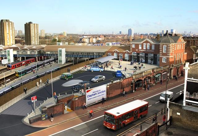 NEW ENTRANCE TO MAKE CLAPHAM JUNCTION ACCESSIBLE FOR ALL: Clapham Junction - Brighton Yard Entrance CGI