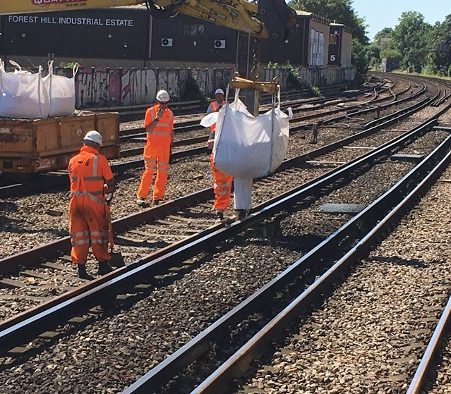 Line reopens after Network Rail engineers complete Forest Hill repairs: Work to fill the large hole found under the railway tracks at Forest Hill is completed