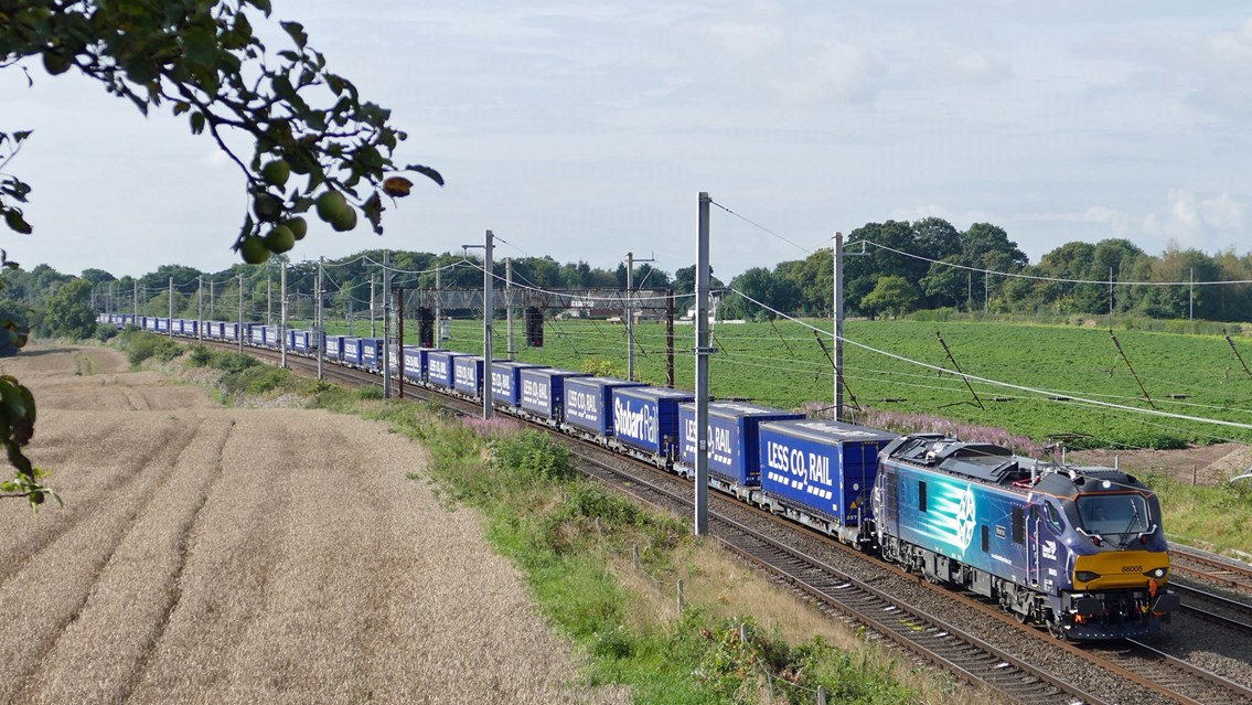 Building back better - Longer trains are delivering for freight customers: tesco train (002)