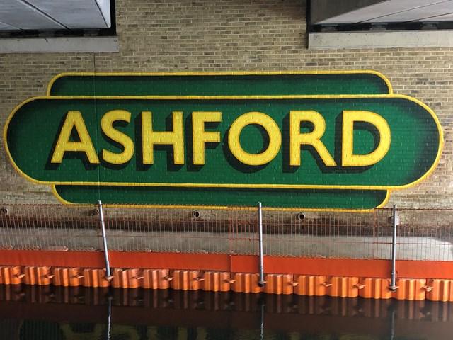 Finished mural in Ashford passageway