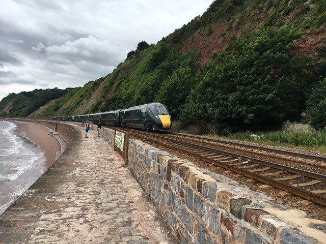 Have your say on proposals to protect section of vital south west rail line bordered by steep cliffs and the sea: IMG 3027
