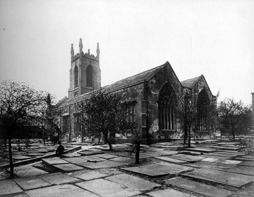 St John's Church: Undated photograph of St John's Church in Leeds. Credit: Leeds Library & Information Service.