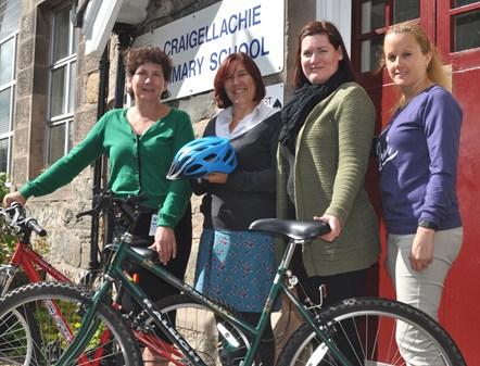 Speyside school staff in fund-raising triathlon