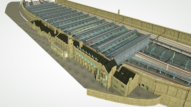 Carlisle station to benefit from £14m investment: Carlisle Aerial View