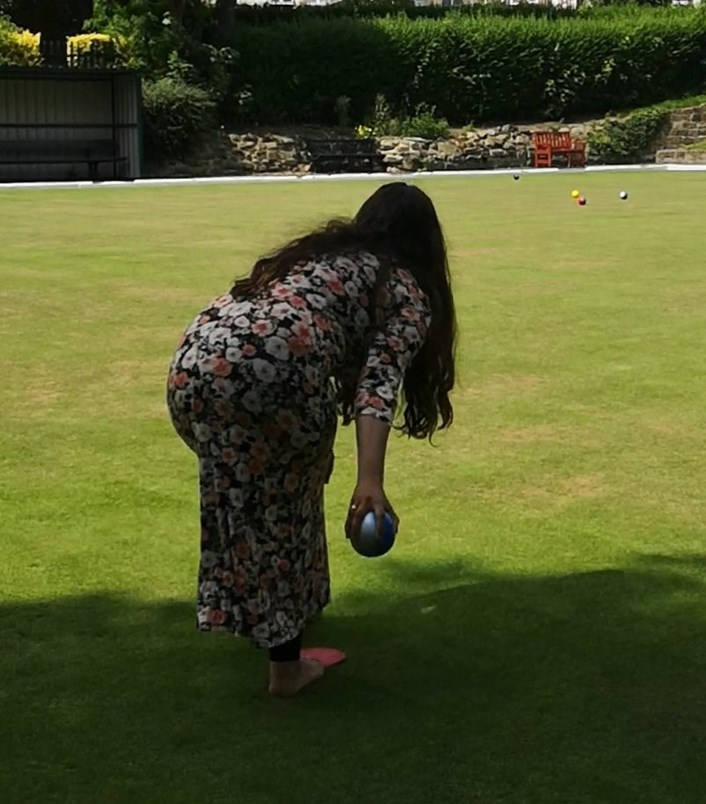 Local green spaces celebrated in Leeds as part of 'Love Parks Week': Cllr Arif-Harehills Park Bowling Club.