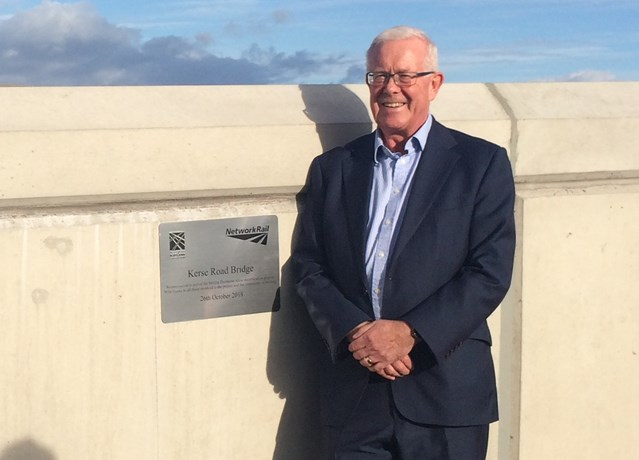 Network Rail and Stirling MSP unveil plaque: IMG 2107