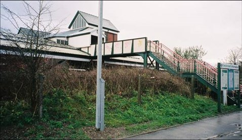 Wrexham station's existing access