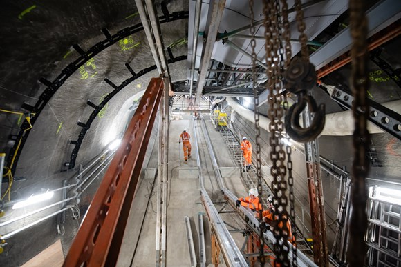 TfL Image - Work taking place as part of the Bank Station Upgrade 2