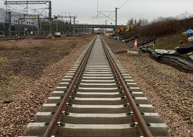 A better railway for passengers after Christmas upgrades: New track laid Milton Keynes track renewal December 2018