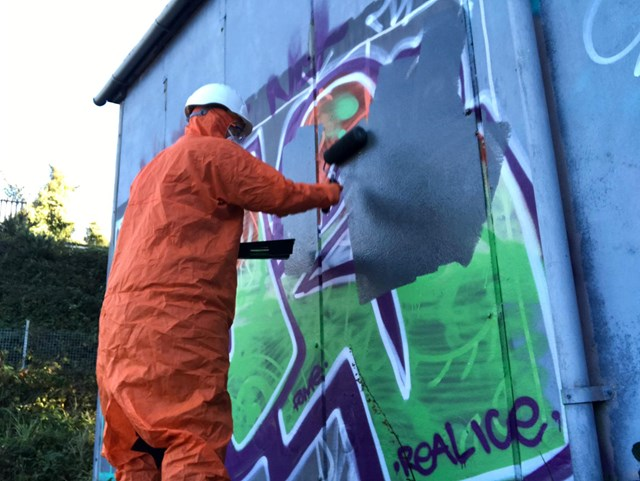 Graffiti hotspots targeted in major railway clean-up across Anglia's rail network: Network Rail cleaning graffiti
