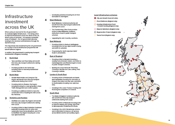 SPENDING REVIEW FACTSHEET: LEVELLING UP: map final