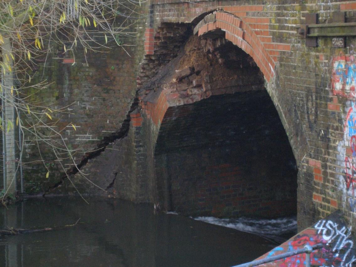 FELTHAM LINE TO REOPEN ON MONDAY: River Crane Bridge, nr Feltham