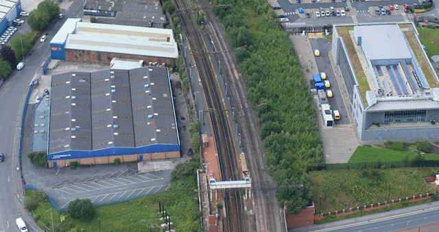 Passengers warned of changes to journeys for essential railway upgrades in Manchester: Ashburys aerial shot