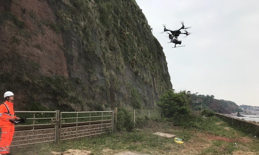 Work to safeguard vital railway 'artery' to the South West moves to next phase this summer: Exe2NA drone investigation work 180712
