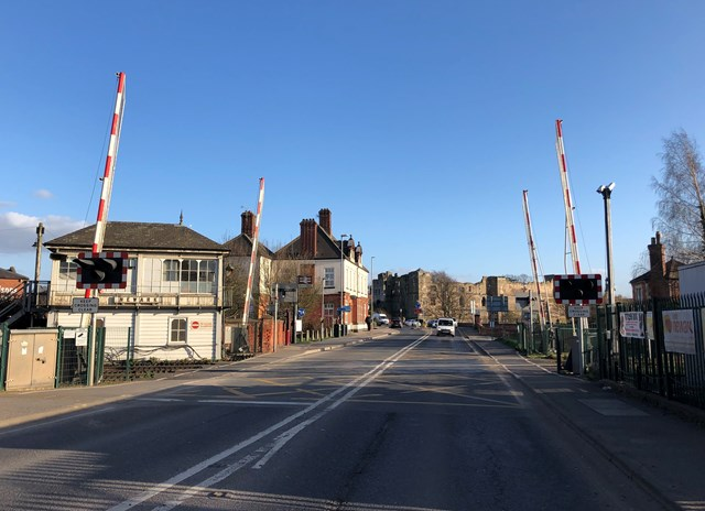 Network Rail upgrades track at Newark Castle level crossing over Easter: Newark Castle level crossing