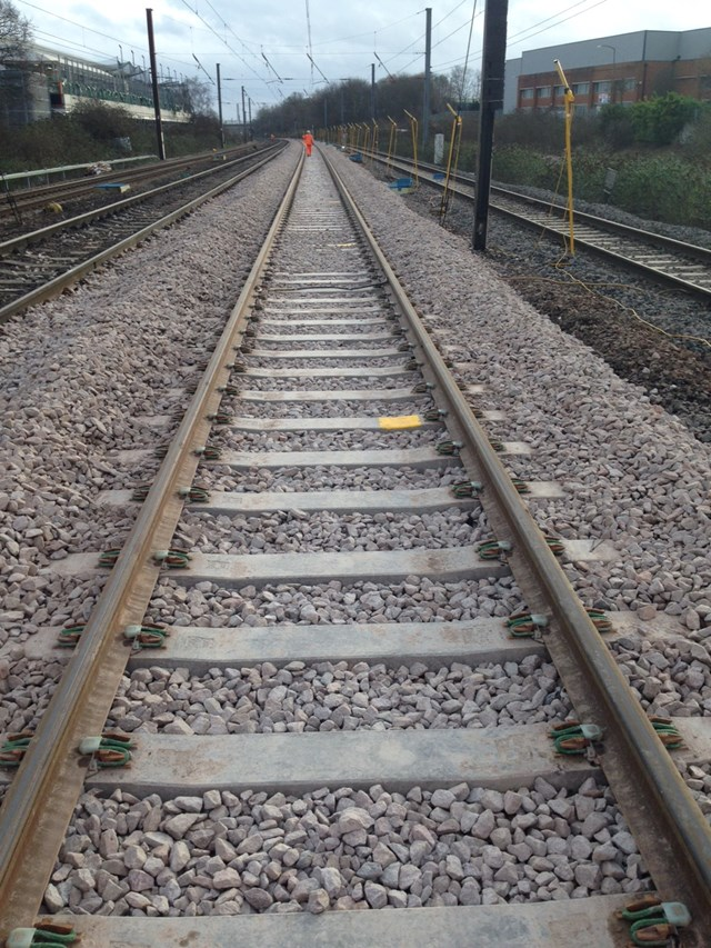 Track renewal at Langley (2): Christmas 2015, engineering, IP Track. high speed handback, railway, rails