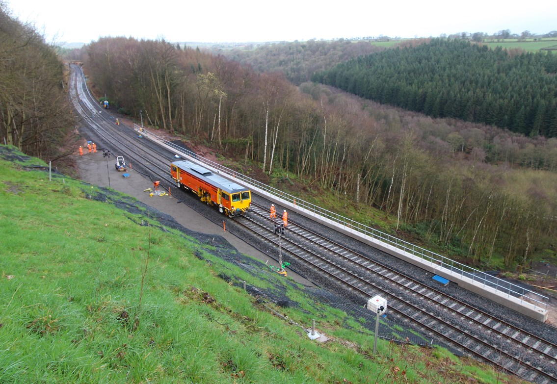 Settle-Carlisle line reopens after orange army repairs to major landslip: Final work taking place to install new track
