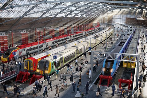 Train customers advised to plan ahead during Liverpool Lime Street station upgrade: Liverpool Lime Street upgrades CGI