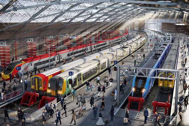 Plans to run trains into Lime Street during major upgrade this summer revealed: Liverpool Lime Street upgrades CGI