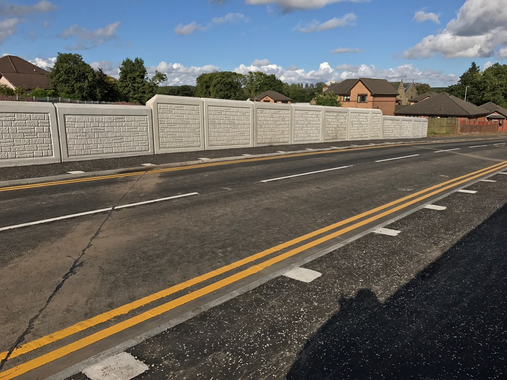 Shotts road reopens following £2m rail bridge reconstruction: New £2m road bridge on Station Road Shotts