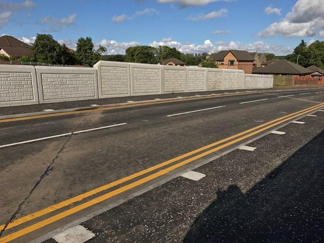 Shotts road reopens following £2m rail bridge reconstruction: New £2m road bridge on Station Road Shotts