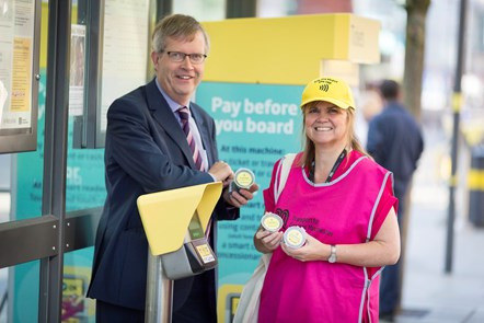 Contactless Metrolink - Stephen Rhodes Customer Director at launch