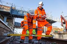 Track work at Kirkham & Wesham station