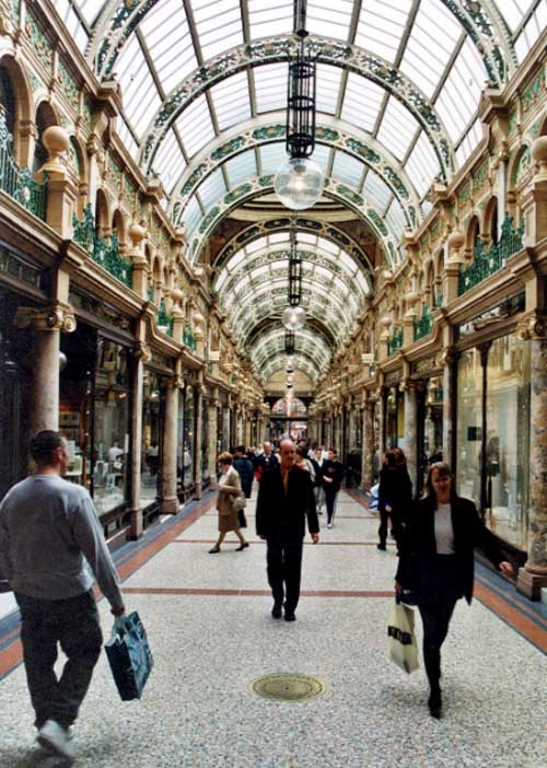 Fast x Slow Fashion online: The Victoria Quarter in Leeds. Credit Leodis.