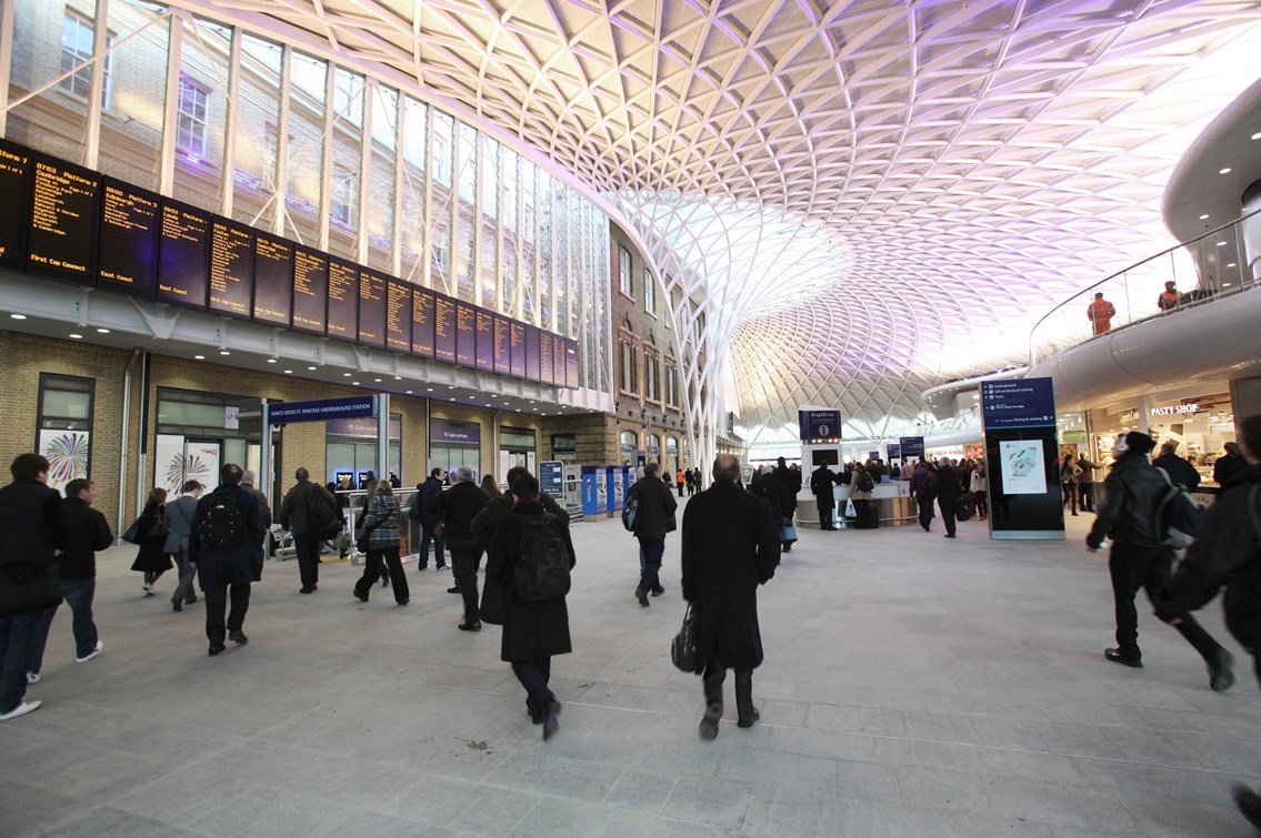 London station investment bears fruit as retail sales rise: King's Cross western concourse