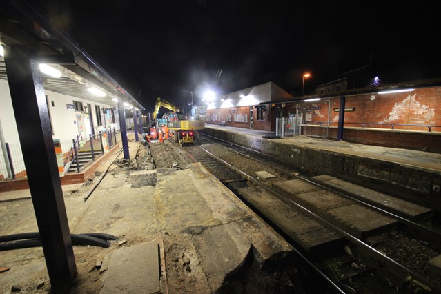Passengers travelling between Preston and Bolton urged to check before they travel this bank holiday weekend: Work continues at Chorley station