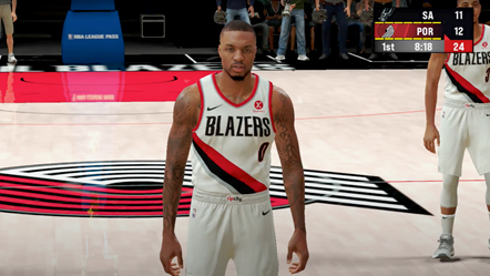 NBA 2K22 Apple Arcade Damian Lillard