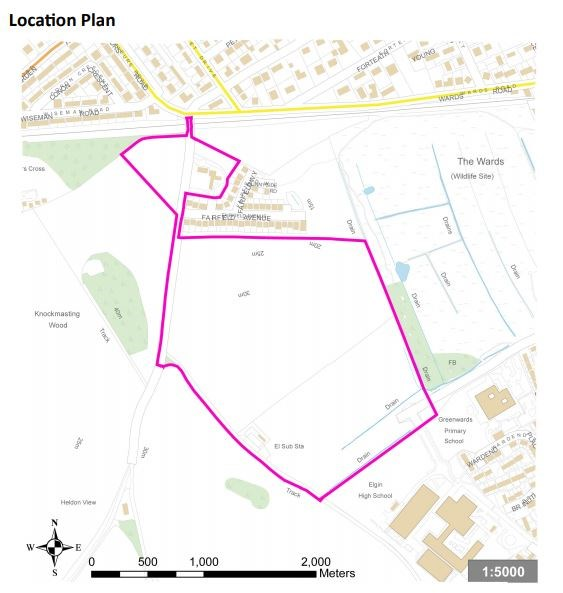 Bilbohall location plan