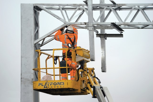 Chorley and Lostock residents invited to find out more about railway electrification between Manchester to Preston: Electrification work