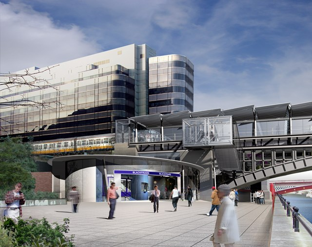 Thameslink - Blackfriars South bank: Image of new Blackfriars South bank station (part of the Thameslink Programme)