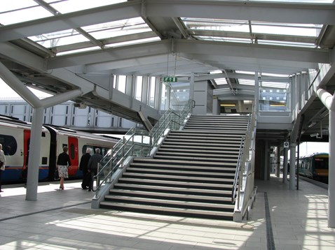 New Canopies and Stairs Derby Station