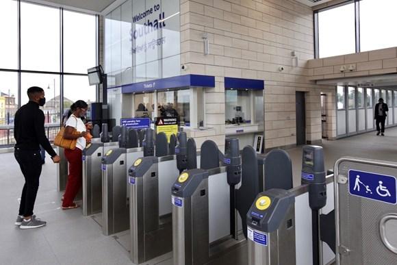 TfL Image - Southall new ticket hall and gateline