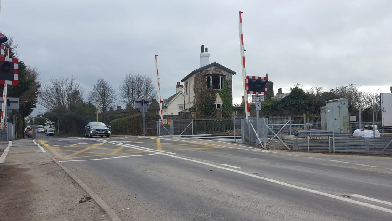 Major safety upgrade at one of West Sussex's most misused level crossings successfully finished on time: Yapton level crossing upgrade