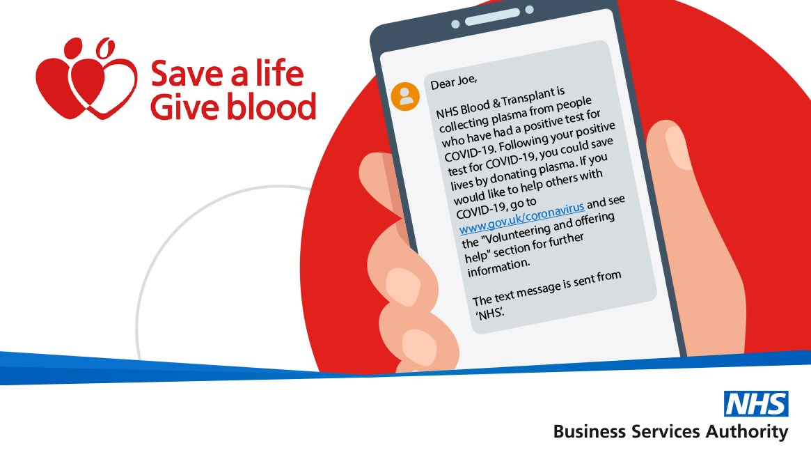 Texts for give blood: NHS Give Blood text message alerts. 10,000 people text to save a life.