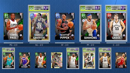 NBA 2K22 MyTEAM Lineup