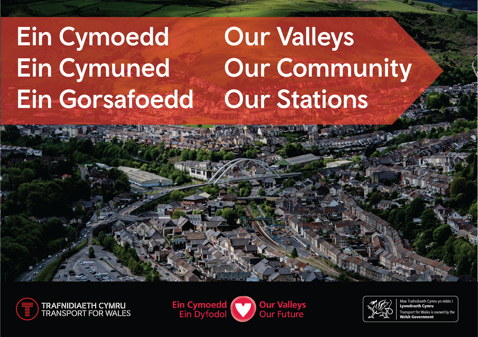Transport for Wales Invite to Valley Communities: social sharer porth (1)