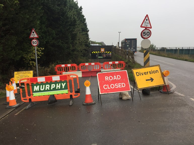 Stonea underpass closed for up to a year following bridge strike