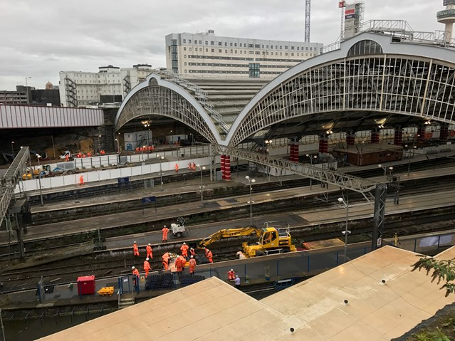 Final weekend of work as Lime Street upgrade continues: Liverpool Lime Street Oct 2017-5