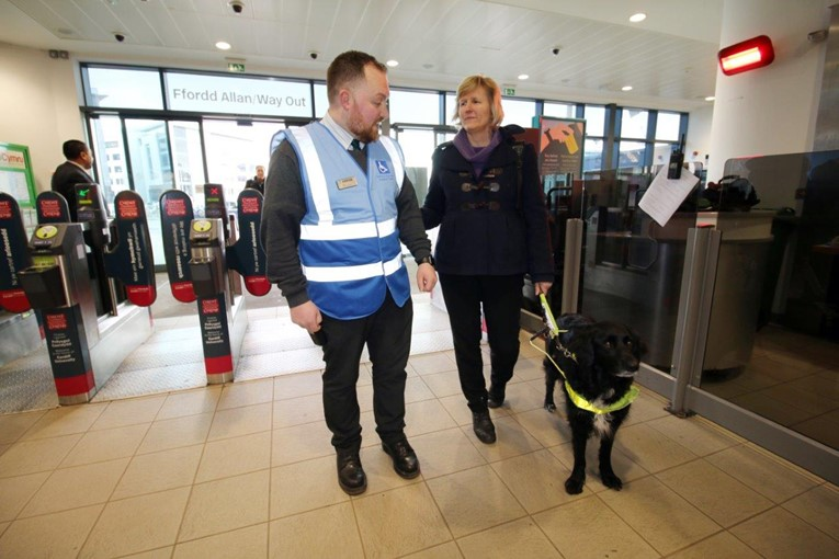 Assisted Travel Focus Group launches new tabards for Cardiff Central staff: AssistedTravel