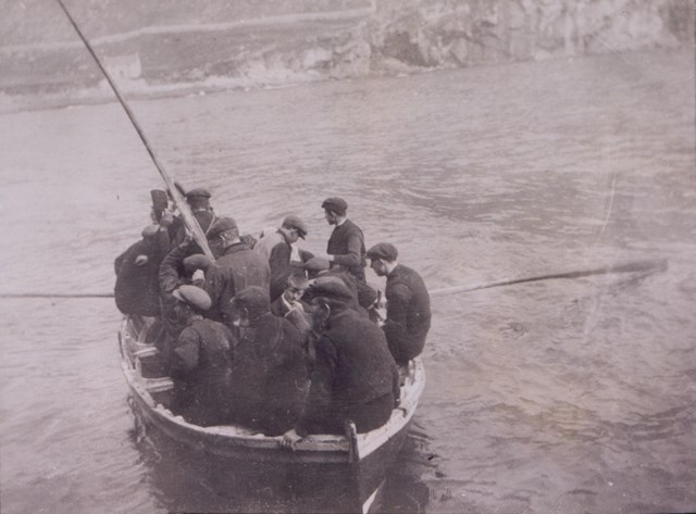 st kilda ferry boat: A St Kildan ferry boat, c1913 National Records of Scotland, GD1/713/1