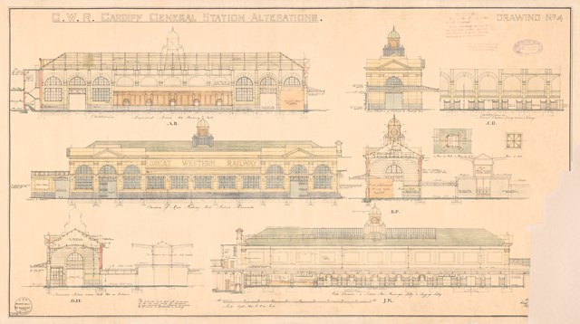 Cardiff Central - original drawing 3