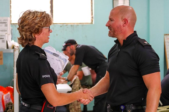 British police officers travel to BVI to continue hurricane recovery efforts: Crown Copyright MOD