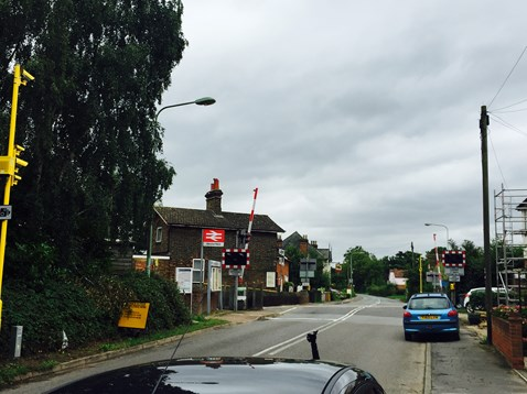 Westerfield level crossing with RLSE