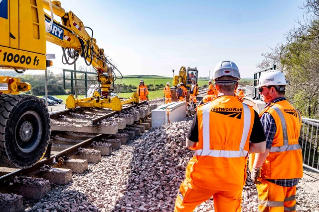 Easter upgrades delivered on-time for Scotland's railway: Dalwearie, Easter 2019 2