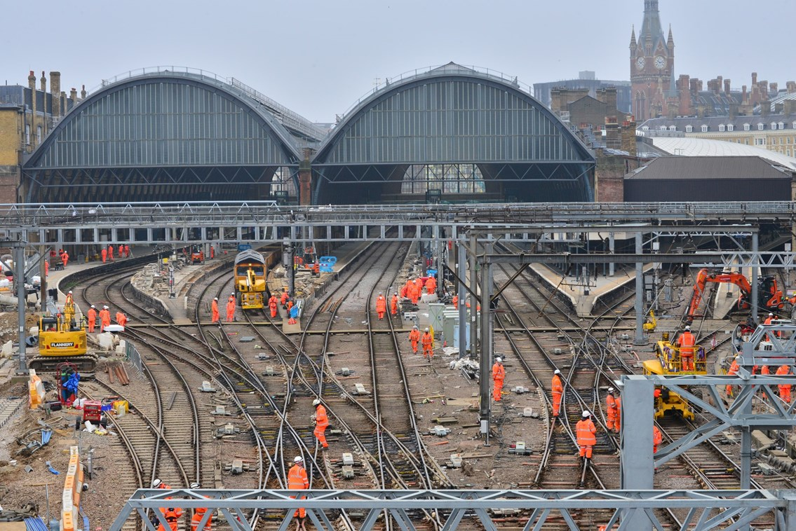 Passengers benefit from a more practical track layout at London King's Cross - Network Rail reaches final stage of major upgrade: JSM 3691