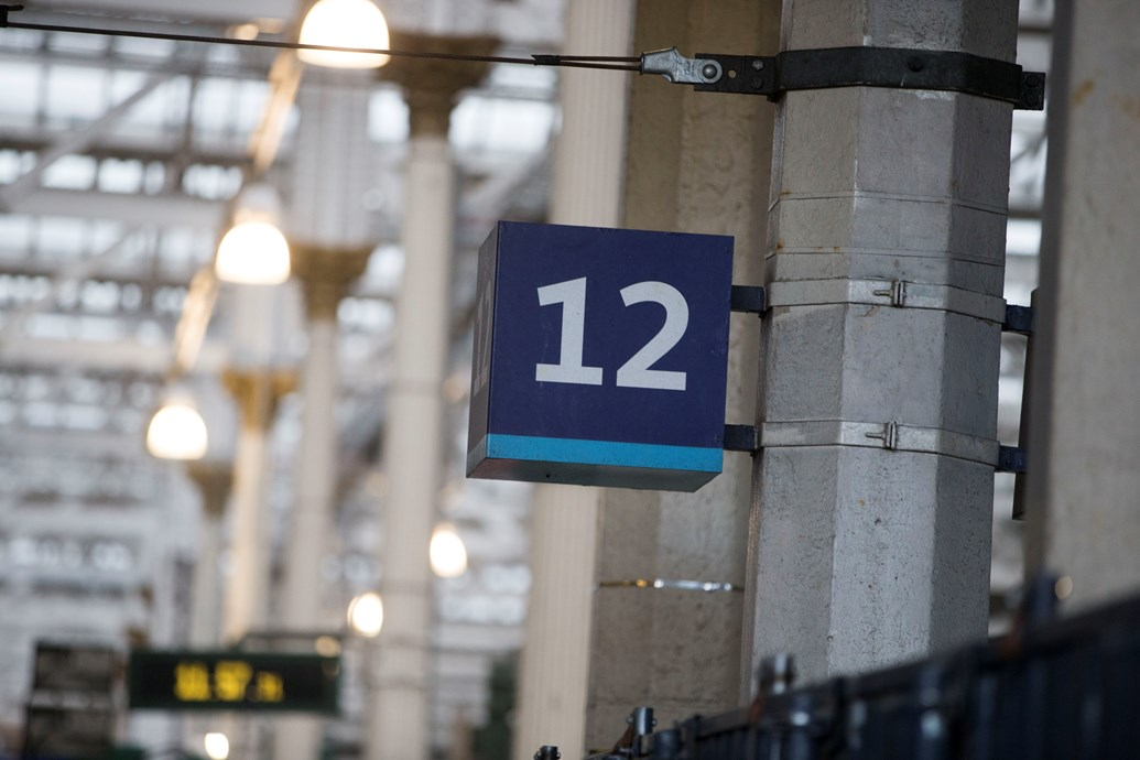 New platform arrives for Edinburgh Waverley passengers: Edinburgh Waverley - plat 12 sign